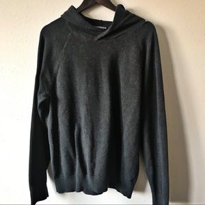 Express Charcoal Sweater with Hood